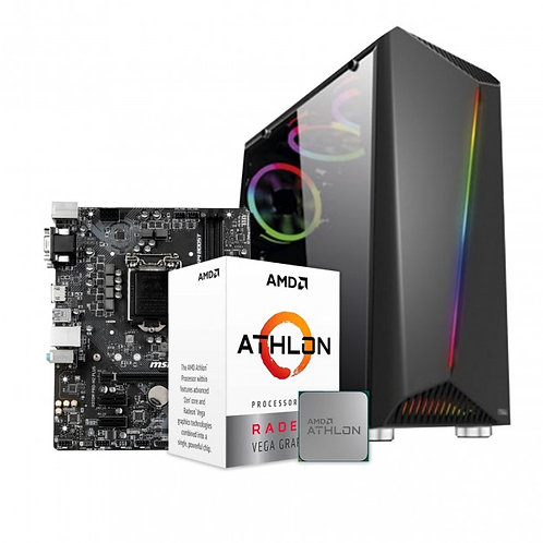 PC GAMER ATHLON 240GE + 8GB + HD 1TB + GABINETE RGB