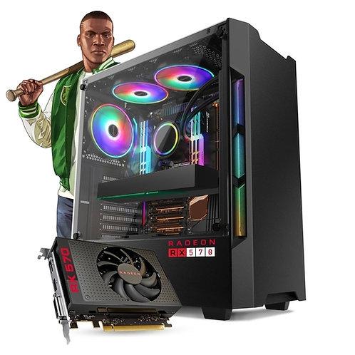 PC GAMER INTEL I5 7TH + 8GB + RX 570 4GB + HD 1TB