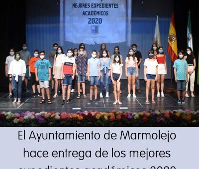 El Ayuntamiento de Marmolejo entrega los reconocimientos a los mejores expedientes académicos
