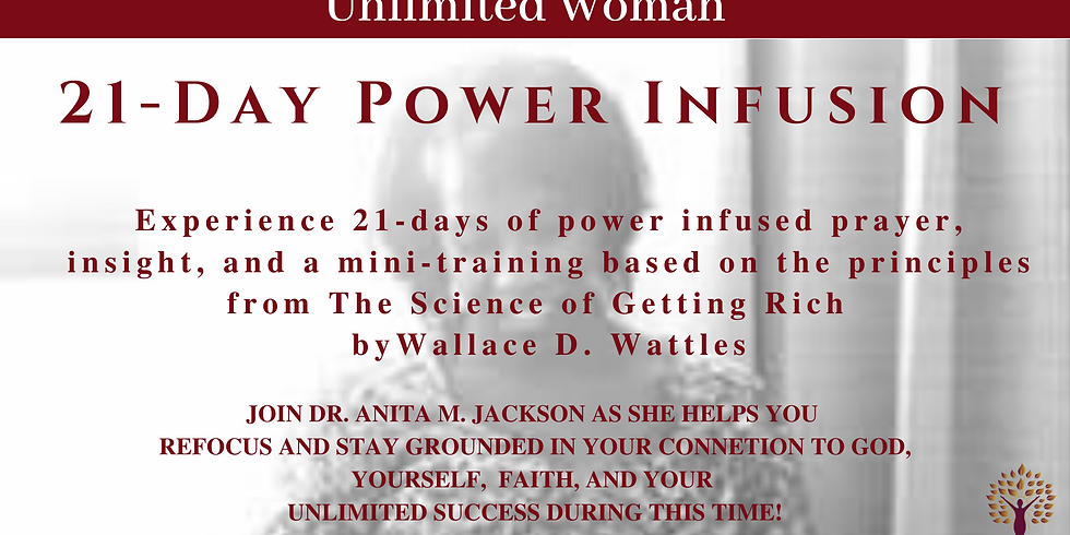 21-Day Power Infusion Sessions with Dr. Anita