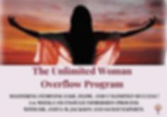 Unlimited Woman Overflow Program Banner.