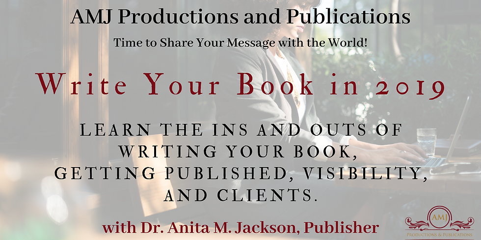 Write Your Book and Get Published in 2019
