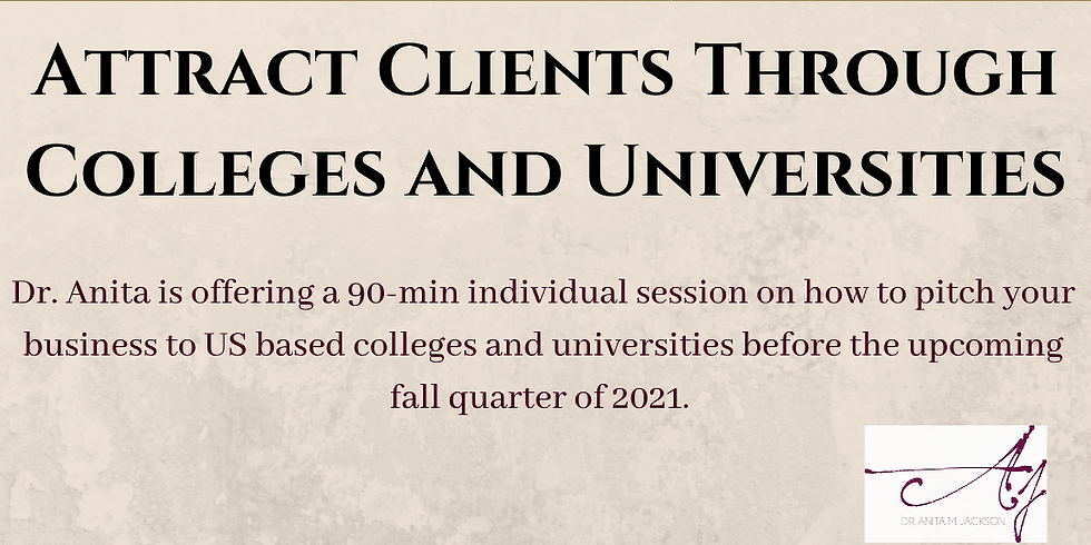 Attract Clients Through Colleges and Universities Individual Coaching Session