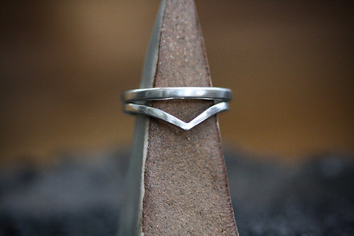 Double Stack Sterling Rings