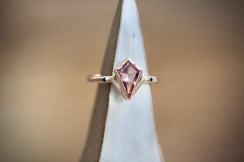 Oregon Sunstone and Rose Gold Ring
