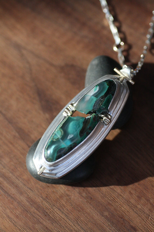 Chrysocolla Canyon Amulet