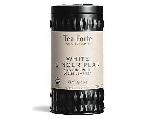 tea forte white ginger pear organic loose leaf tea