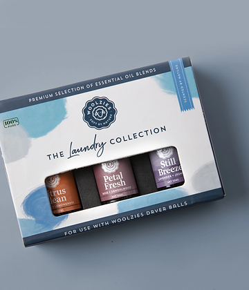 woolzies laundry essential oil collection