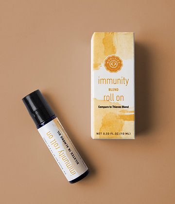 immunity essential oil roll on blend by woolzies