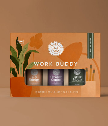 the work buddy essential oil collection by woolzies
