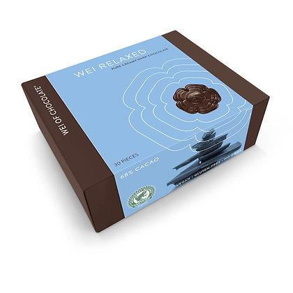 wei of chocolate wei relaxed dark organic chocolate