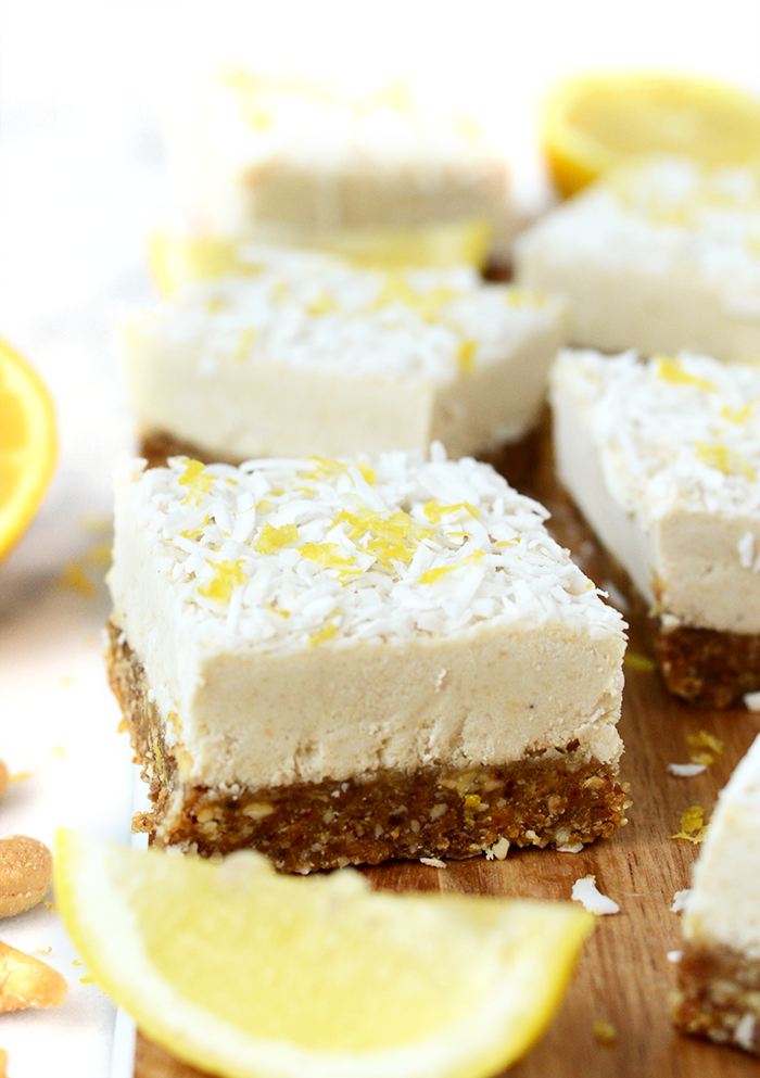 Raw Lemon Coconut Bars