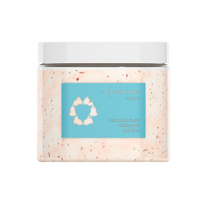 red flower bioactive berry white peat exfoliant