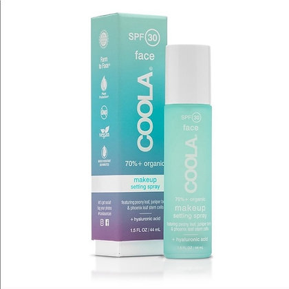 coola makeup setting spray - organic - spf 30