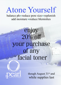 Enjoy great savings on any toner this summer at THE pearl!