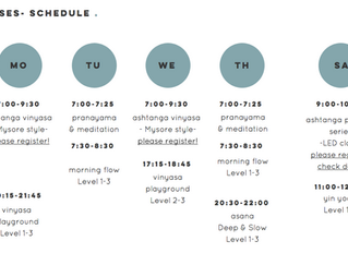 Check out our new schedule