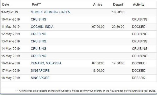 MUMBAI to SINGAPORE RCL