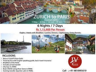 ZURICH to PARIS