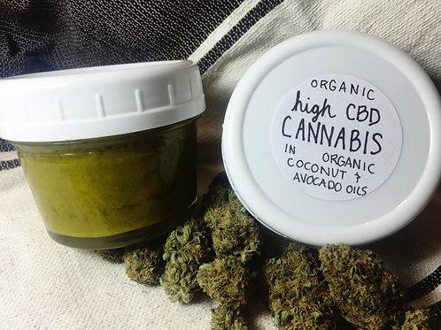 Organic -High CBD- Massage Oil (8 oz.)