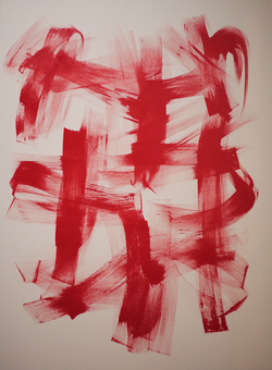 """Red Motion (36"""" x 48"""")"""