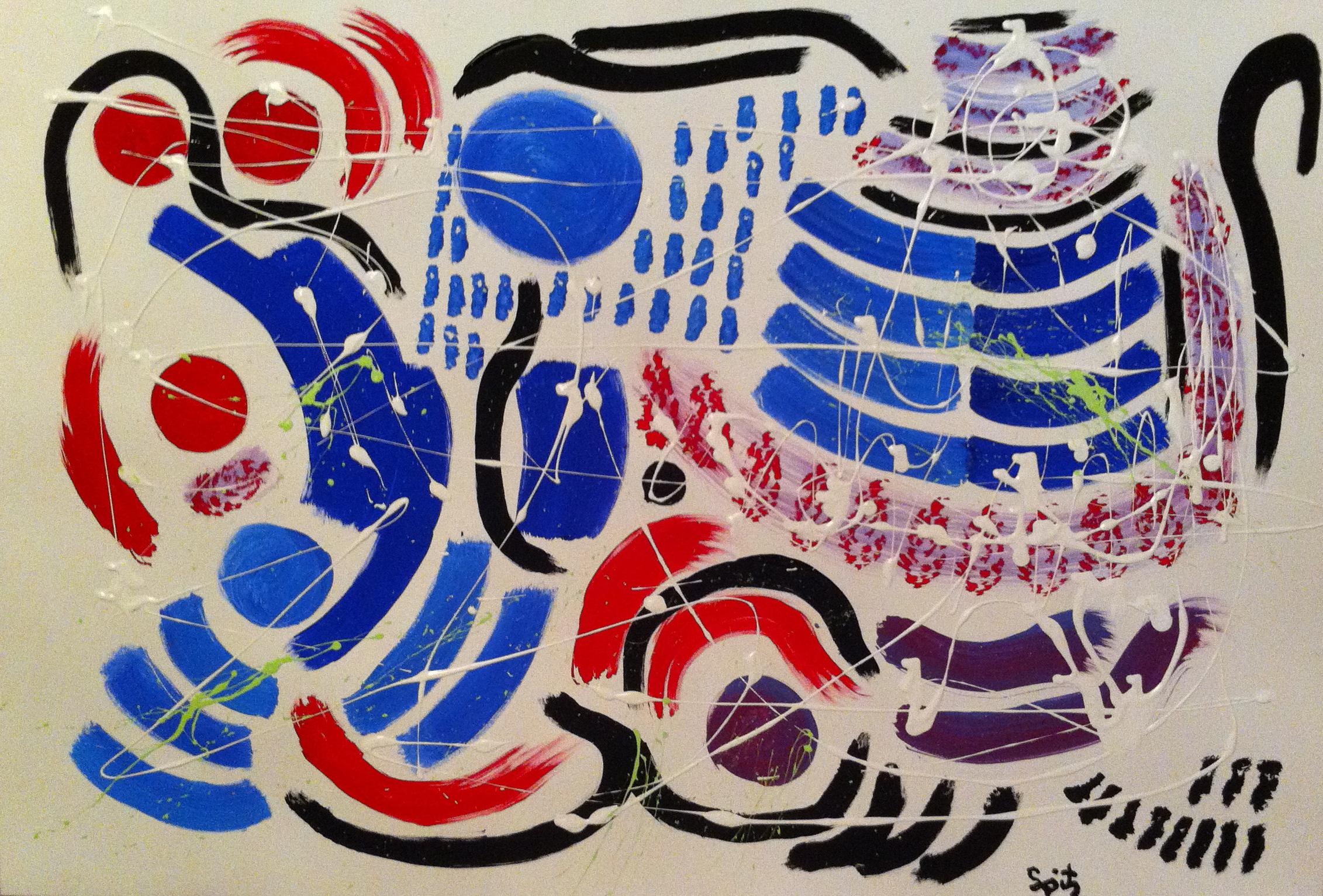 """Blue Vienna (48"""" x 36"""")"""