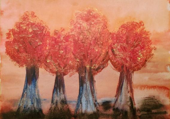 Bain de couleur en marron