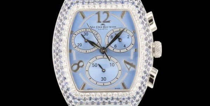 Van der Bauwede XS Chronograph Saphires & Diamonds New