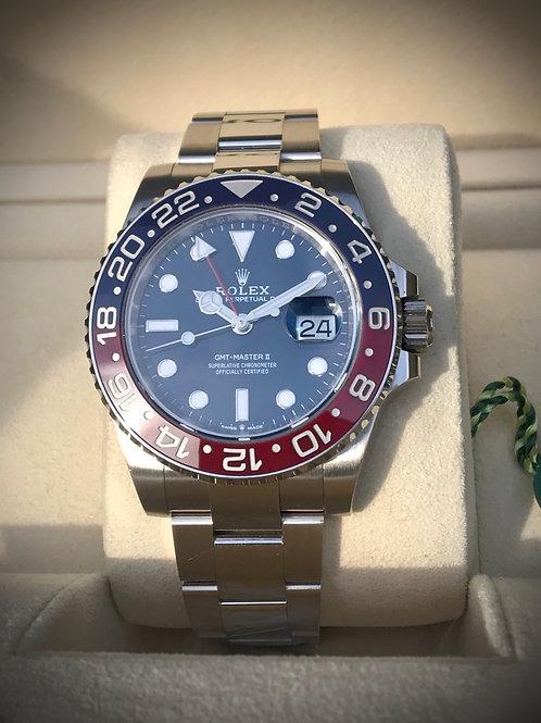Rolex GMT Master II 126719BLRO Pepsi Blue 18K White Gold