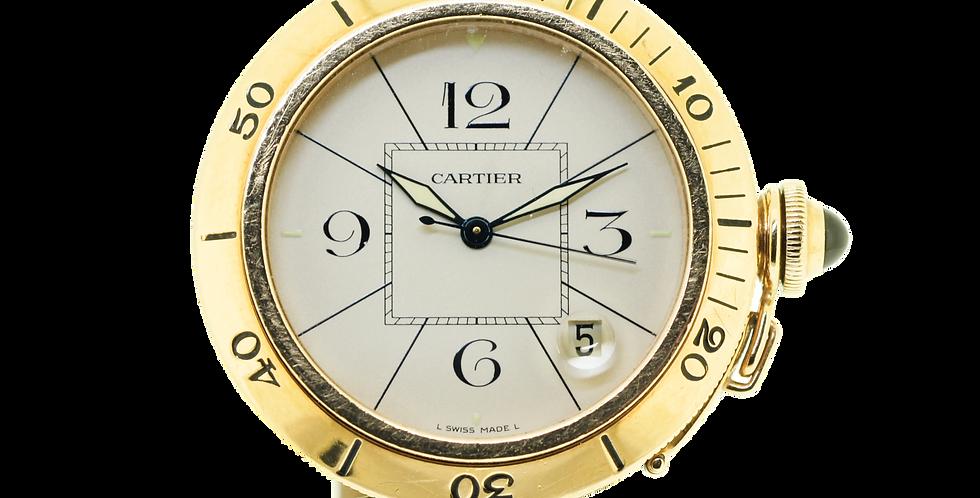 Cartier Pasha 18K Gold Automatic Full Set