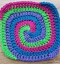 Spiral Granny Square by Laura Eccleston