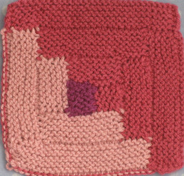 Log Cabin Dishcloth by Mary Anne Dinsmore