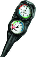 Scuba Diving Analogue Depth and Pressure Gauge | Cressi Mini Combo 2 gauge