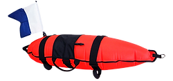 Spearfishing float | Immersed Inflatable 30L with Flag