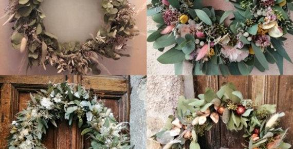 Couronnes de fleurs séchées - Inflorescences