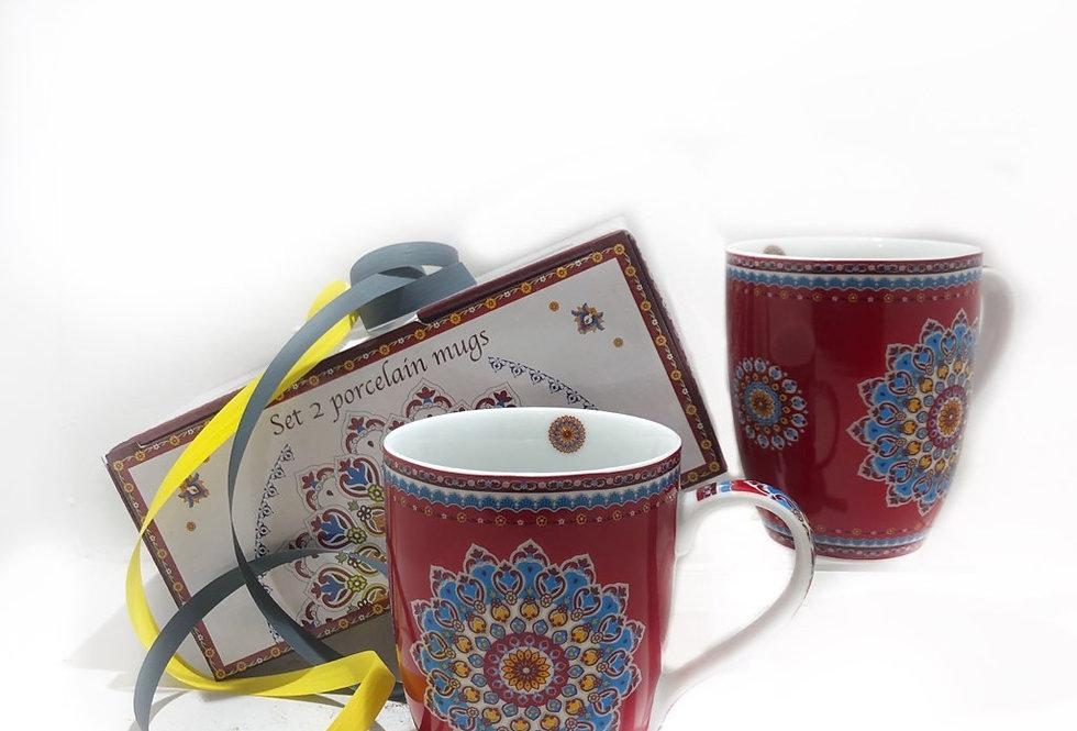 Coffret de 2 mugs en porcelaine - Un été en provence