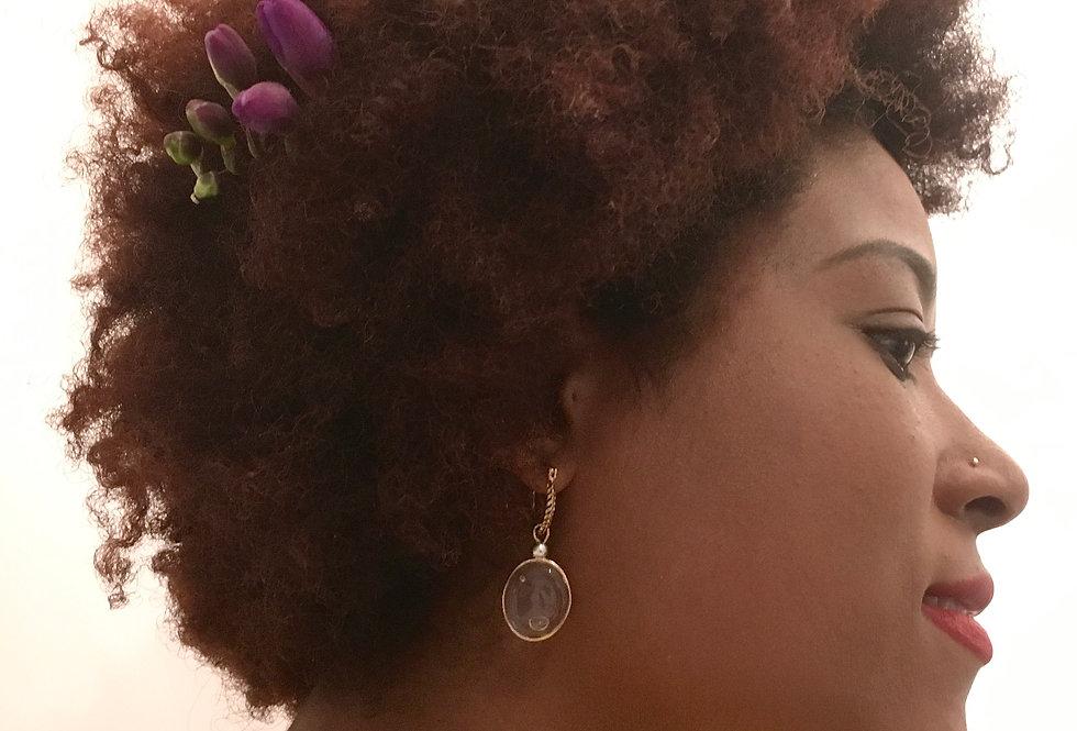 Boucles d'oreilles créoles texturées - Beloï Tanta