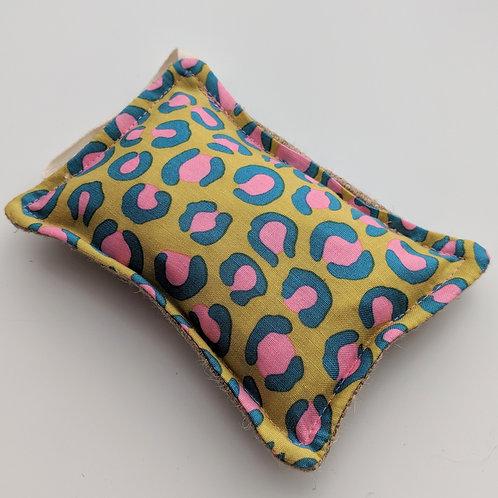 Leopard print kitchen sponge