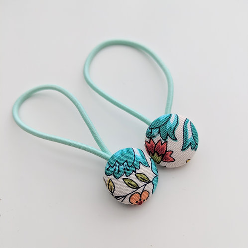 Spring flowers hair buttons