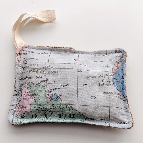 World map kitchen sponge