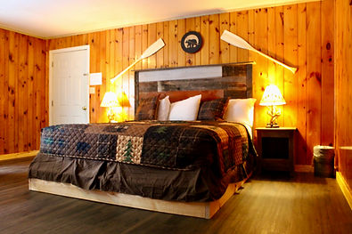 rustic cabin with kitchenette, private deck and barbecue grill at sundowner on lake george in lake george, ny