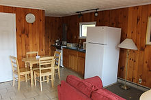 cabin units with kitchens at the sundowner motel, lake george new york with lake views