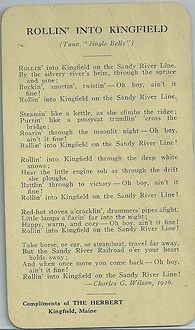Rollin' into Kingfield song card