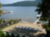 The Sundowner Motel in Lake George, New York is a hotel with a private beach on lake george and the hotel is a member of the Gregor Hotels portfolio of independent hotels