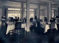 Dining room at the Herbert Grand Hotel Kingfield, Maine Circa 1920