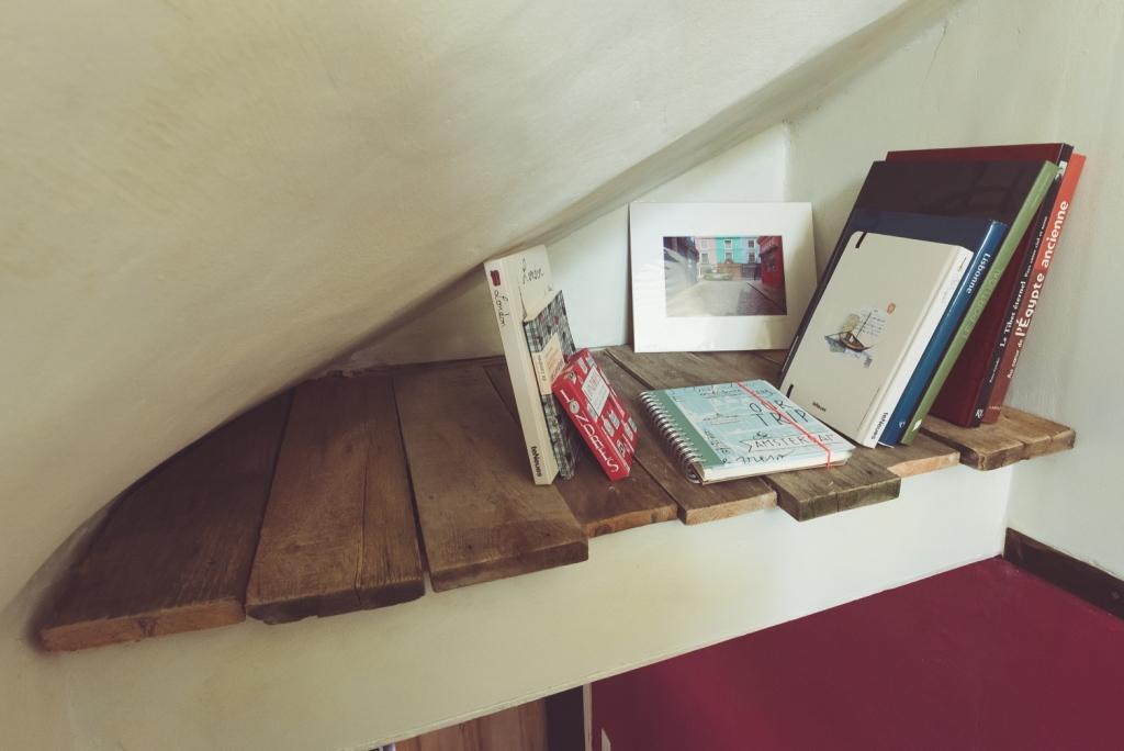 Niche escalier bois récup