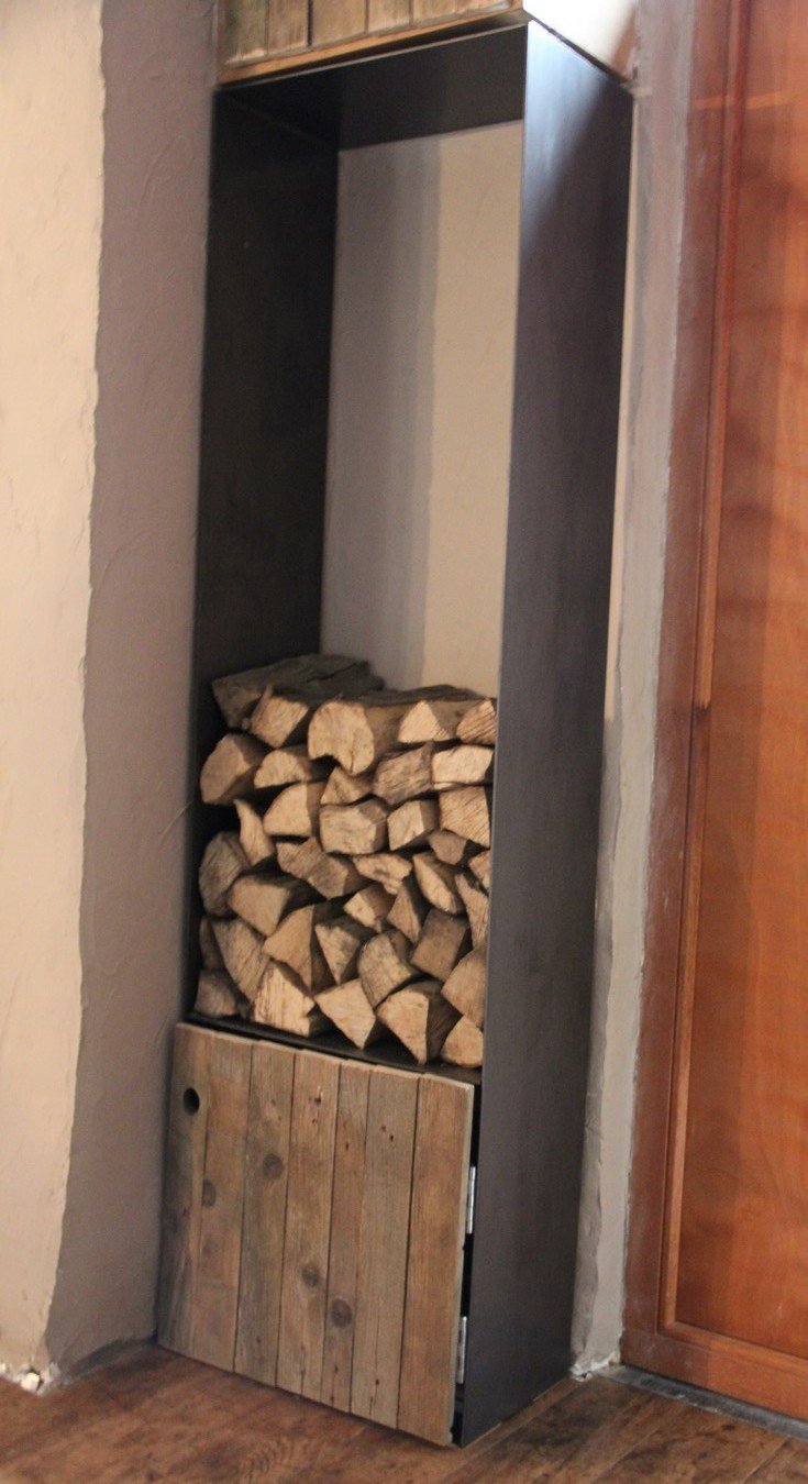 Armoire buche industriel bois/métal
