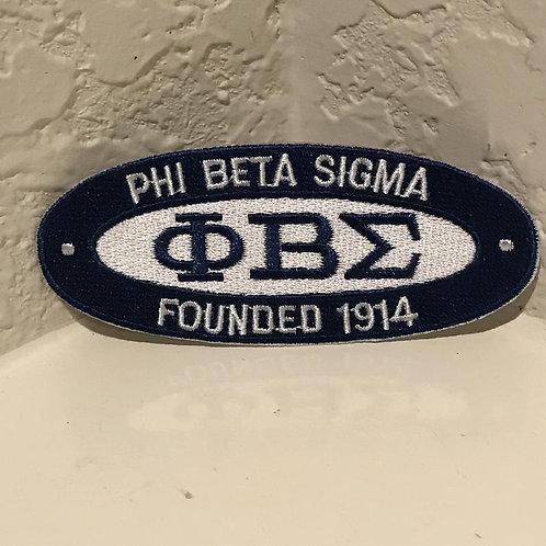 Phi Beta Sigma Patch Oval