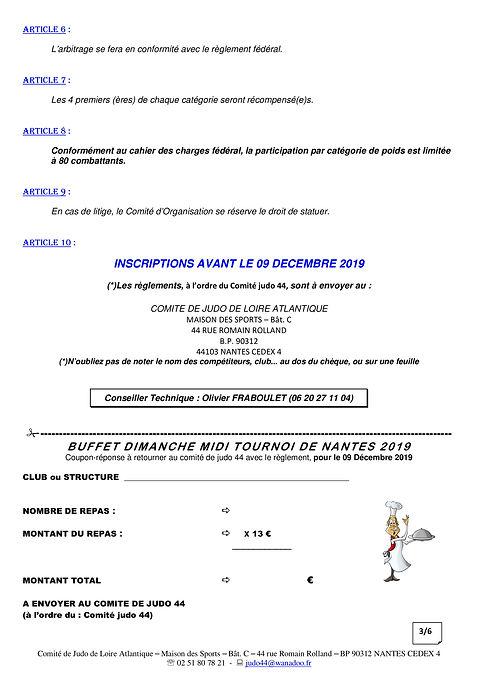 Plaquette TOURNOI DE NANTES JUNIORS M&F