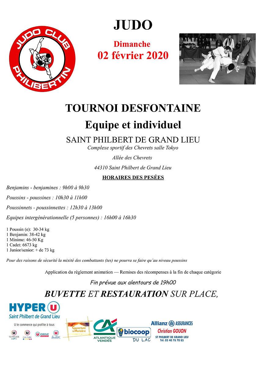 2019-2020 Affiche tournoi amical Desfont