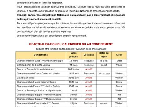 Infos de la FFJDA